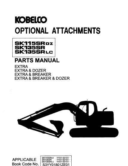 Kobelco SK115SRDZ SK135SR SK135SRLC Parts Manual Hydraulic