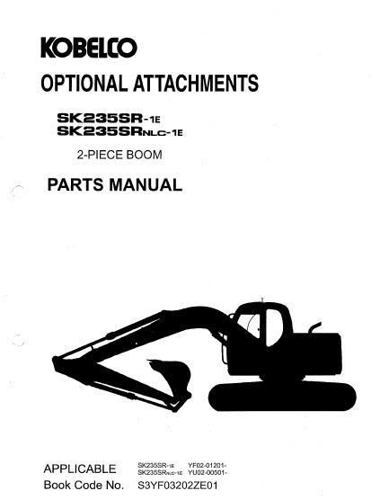 Kobelco SK235SR-1E SK235SRNLC-1E Parts Manual Hydraulic