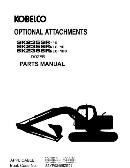 Kobelco SK235SR-1E SK235SRNLC-1E SK235SRNLC-1ES Parts
