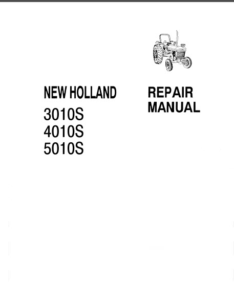 New Holland 3010S 4010S 5010S Repair Manual Tractors