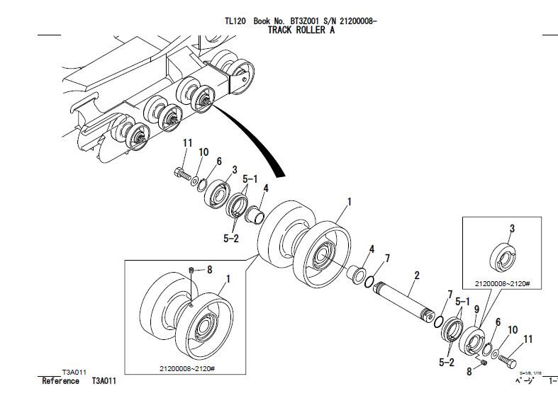 Takeuchi TL120 Parts Manual Track Loader BT3Z001