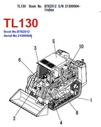 Takeuchi TL130 Parts Manual Track Loader BT8Z012