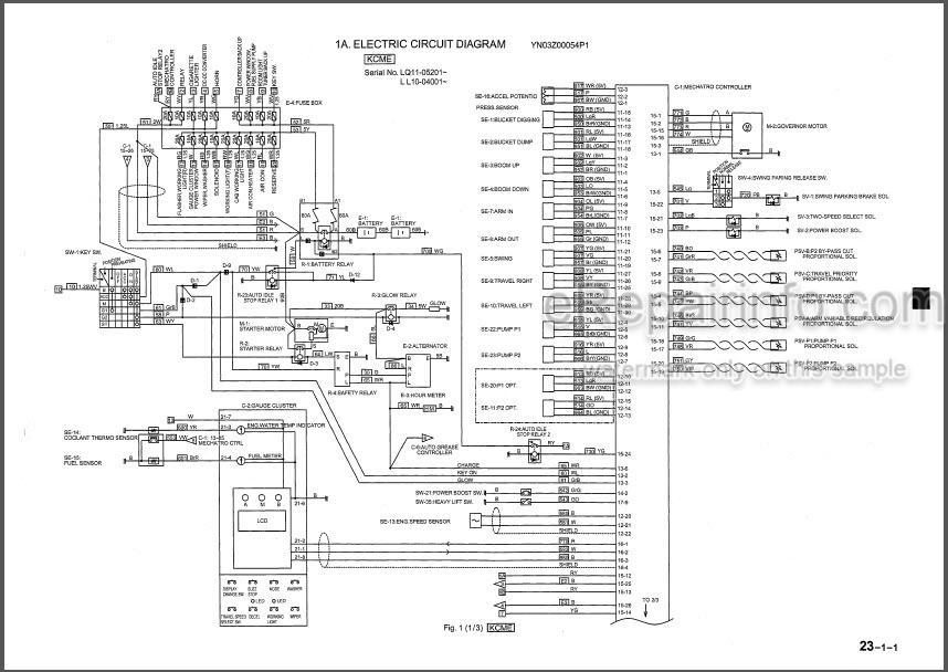 Kobelco SK230LC SK250LC-6ES SK250NLC-6ES Shop Manual