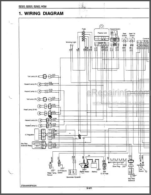 Kubota B2320 B2620 B2920 Workshop Manual Compact Tractor