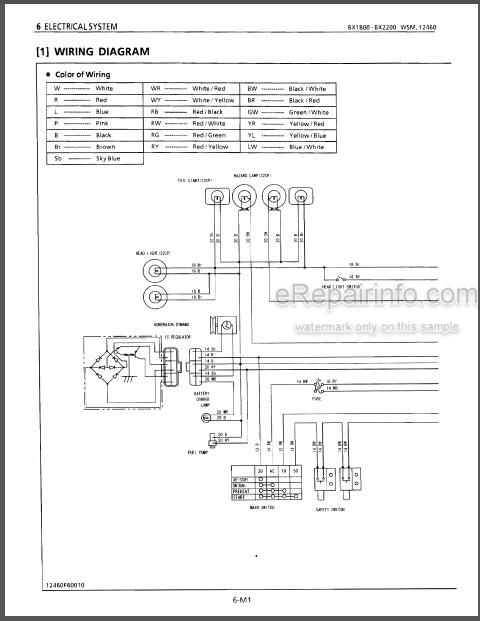 kubota bx1800 bx2200 workshop manual tractor – erepairinfo.com  erepairinfo.com