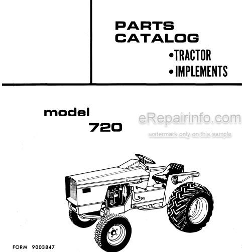 Allis Chalmers 720 Parts Catalog Tractor