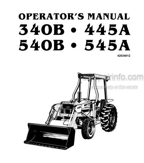 Ford 340B 445A 540B 545A Operators Manual Tractor 42034012