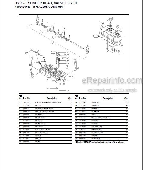 Gehl 383Z Parts Manual Compact Excavator 918195
