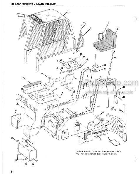 Gehl 4000 Series HL4300 HL4500 HL4600 HL4700 Service Parts