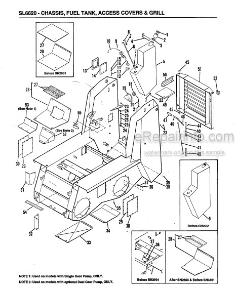 Gehl 6620 Service Parts Manual Skid Loader 904513