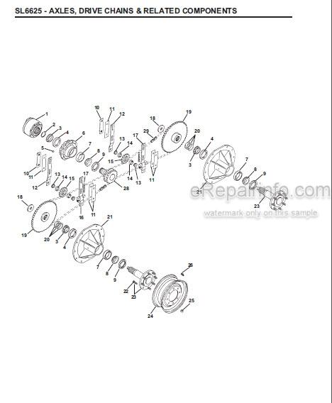 Gehl 6625 Service Parts Manual Skid Loader 907286