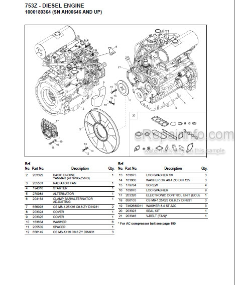 Gehl 753Z Parts Manual Compact Excavator 918075