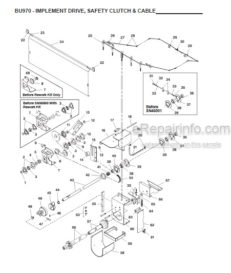 Gehl 970 Parts Manual Forage Box 907144