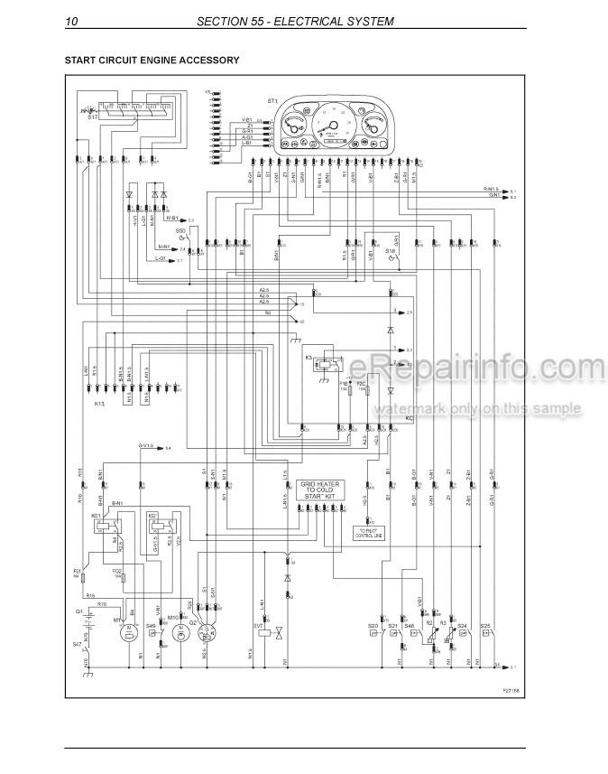 New Holland B95 B95TC B95LR B110 B115 Service Manual