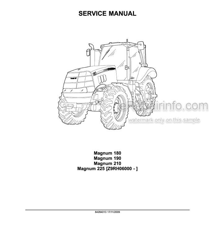 Case 180 190 210 225 Magnum Service Manual Tractor
