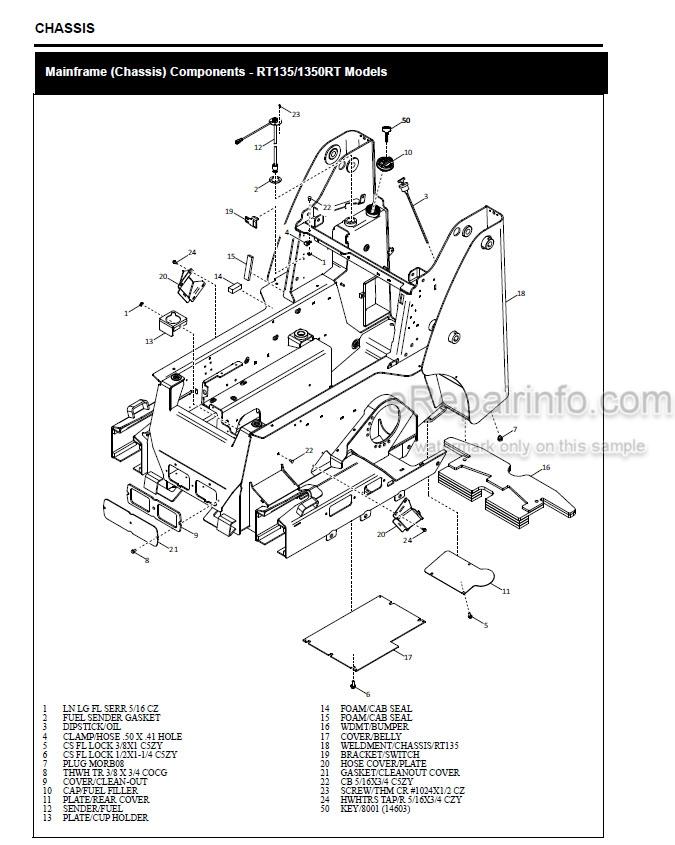 Gehl RT135 RT165 Manitou 1350RT 1650RT Mustang 1350RT