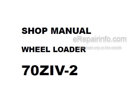 Kawasaki 70ZIV-2 Shop Manual Wheel Loader