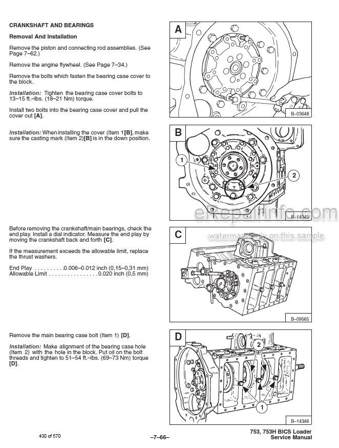 Bobcat 753 High Flow Service Manual Skid Steer Loader