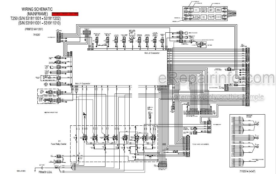 Bobcat T250 Service Manual Compact Track Loader