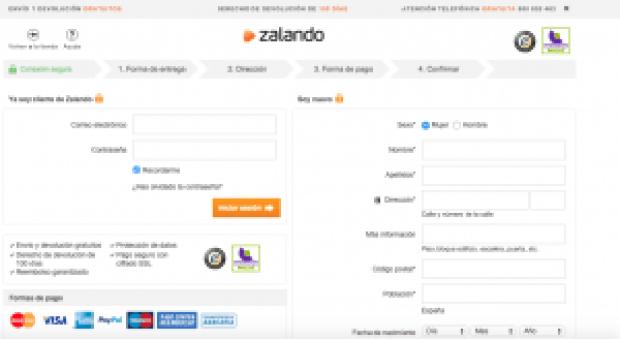 Registrarse - Zalando