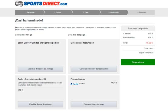 Casi terminado - Sports Direct