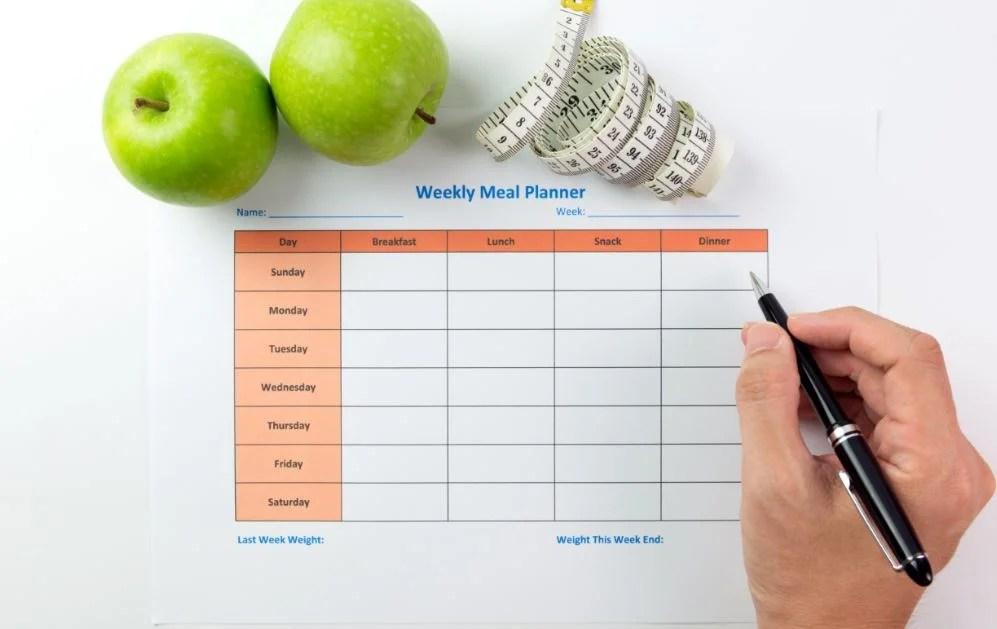 Dieta semanal saludable.