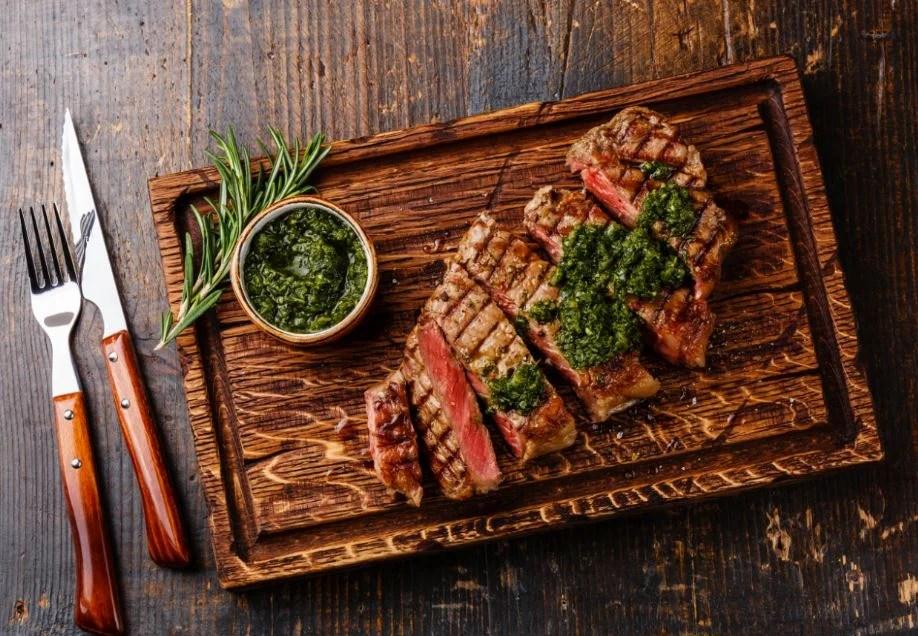Chimichurri con carne.