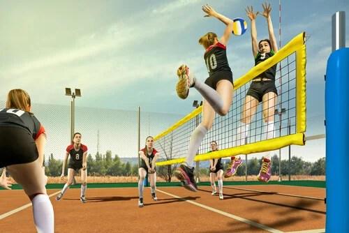 El voleibol es un deporte recomendado para los niños.