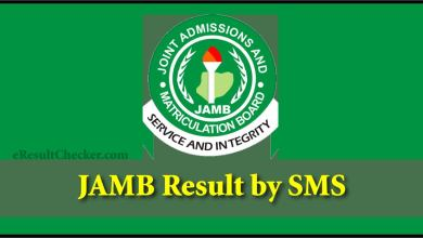 JAMB Result by mobile SMS