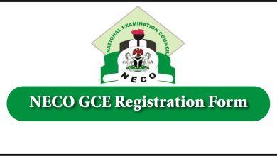 NECO GCE Registration Form