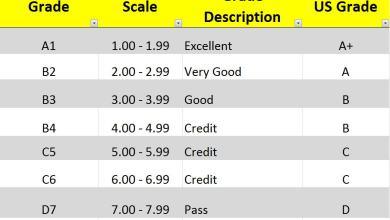 NECO grading system