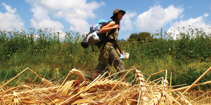 Travelers enjoying the great outdoors during a summertime trek along the Israel Trail.