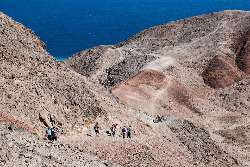 Har Zefahot overlooking the Gulf of Eilat