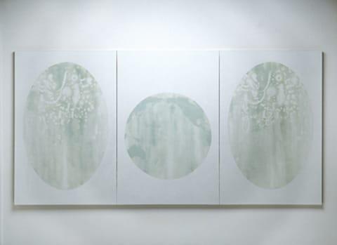 """יהושע בורקובסקי - ללא כותרת, שמן על בד, 145/288 ס""""מ, 1998"""