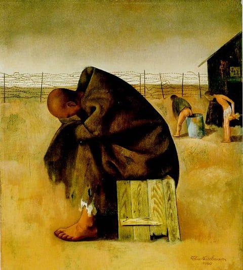 """פליקס נוסבאום - בלאגר, 1940. שמן על בד, 42/47 ס""""מ"""
