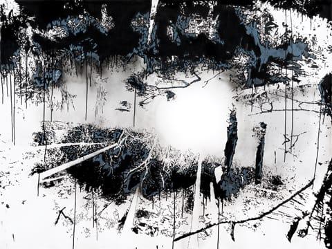 """יהודית סספורטס - מתוך סדרת הרישומים """"שיכחה"""", 2012"""