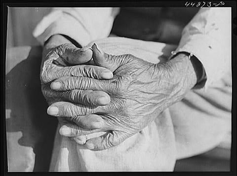 ג'ק דלאנו - ידיו של מר הנרי ברוקס, עבד לשעבר. ג'ורג'יה 1941. אוסף ספרית הקונגרס