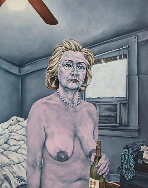 הילרי קלינטון בציור של שרה סול