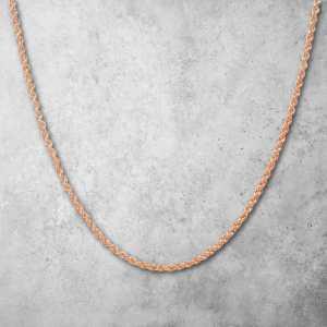שרשרת זהב לגבר - חבל חיתוך יהלום זהב אדום