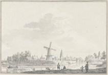 Canon v Buren 5. Detail gezicht op Buren, Pieter Jan van Liender, ca. 1750