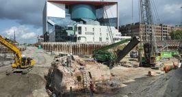 De resten van de poort tijdens de werkzaamhden in augustus 2014 foto: Projectbureau CU2030