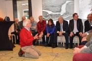 Tijdens een kort formeel programma werd uitleg gegeven over de Oude Hollandse Waterlinie, en werden toekomstdromen besproken