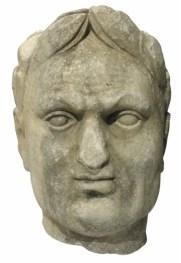 17de eeuws beeld van de Romeinse keizer Vespasianus uit de Vecht