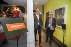 Dagvoorzitter Pierre van der Gijp heeft ook even pauze. Foto: Leontine van Geffen-Lamers