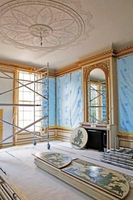 De Gouden Salon van Huis Barnaart tijdens de restauratie - Foto Jan Luijk