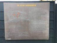 Bruin bord De Stad Goedereede Foto: De Erfgoedstem
