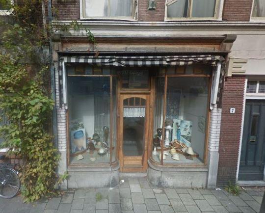 Voormalige Hoedenmagazijn C.H. Berghout-Bergman aan de Lange Noodgodsstraat 5-7 in Gouda