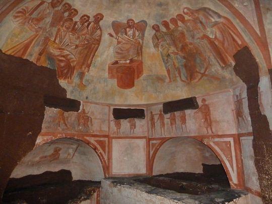 Schilderingen in de Romeinse Katakomben in Valkenburg