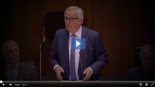 Bekijk de inleidende speech van voorzitter Juncker