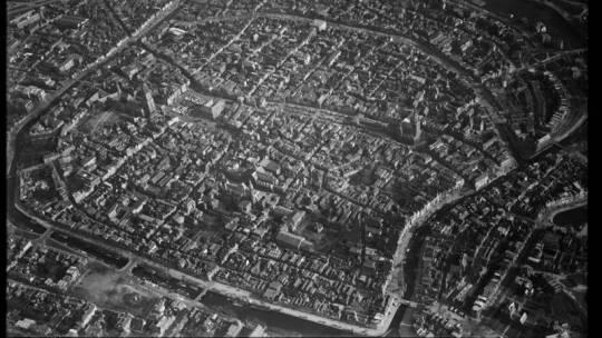Een luchtfoto van Groningen